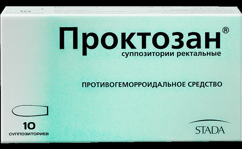 Проктозан®, свечи, (Производитель: «ШТАДА Арцнаймиттель АГ»): фото упаковки, действующее вещество, подробная инструкция по применению